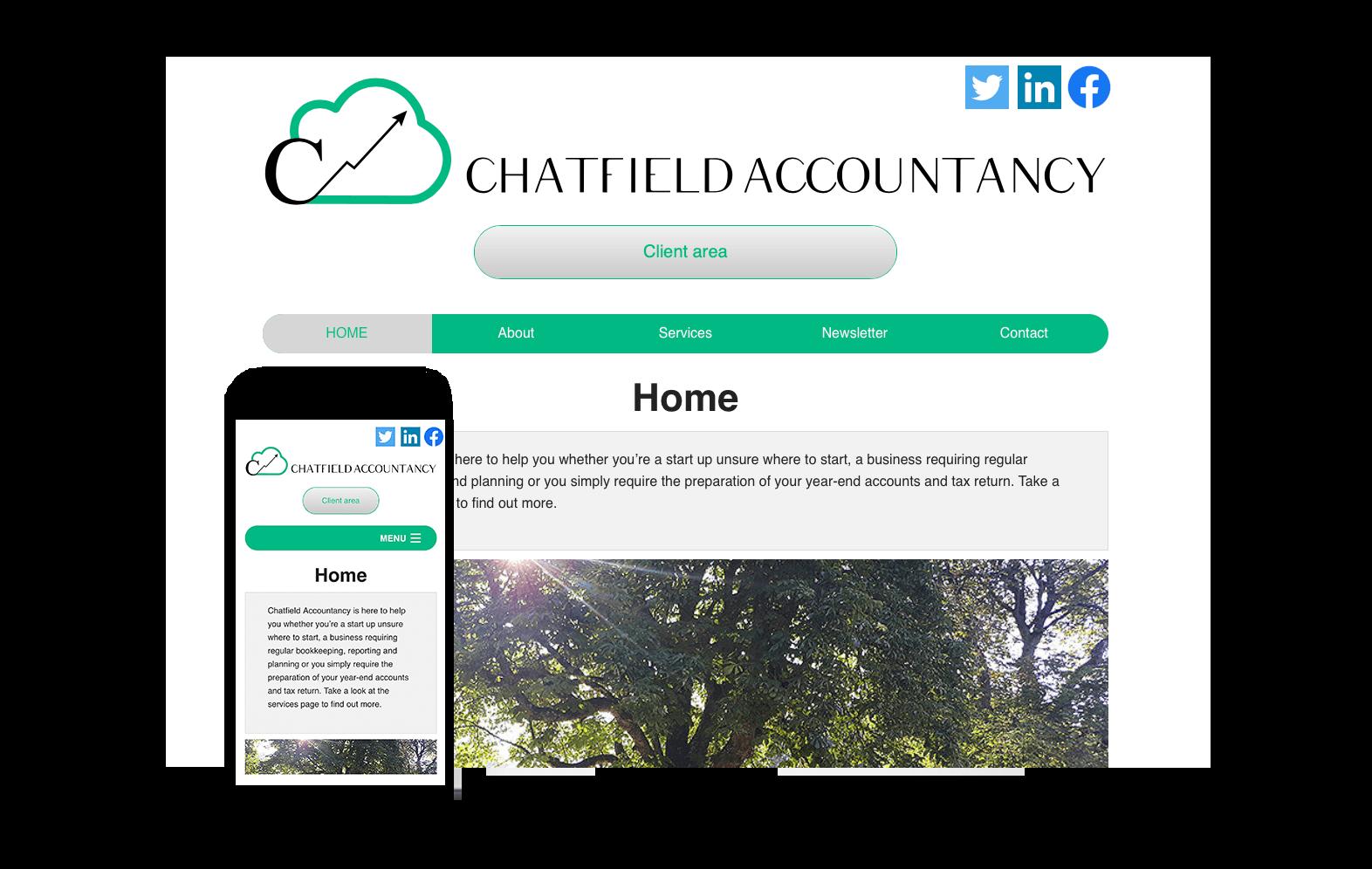 Chatfield Accountancy website image